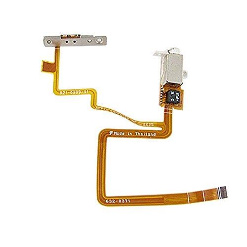 30 Gb Ipod Parts - HaoTianShiDai Headphone Audio Jack Flex Hold Switch Button for iPod Video 30GB (White)