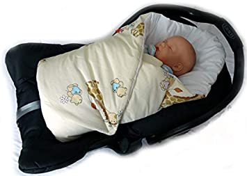 Para beb/és de 0-3 meses Azul Abeja Regalo perfecto para Baby Shower 78 x 78 cm BlueberryShop manta de algod/ón para envolver al beb/é en el coche| Saco de dormir para beb/és reci/én nacidos
