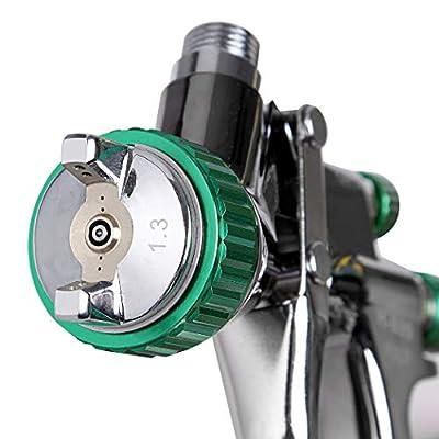 CARTMAN HVLP Gravity Feed Air Spray Gun 20.2 oz Capacity, 3.0-4.0 CFM (Cubic feet per Minute), Optimal Working Pressure 2bar/29psi, Nozzle Size:1.3mm with Air Regulator: Automotive