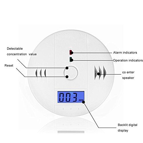 Carbon Monoxide Detector Gas Detection Firstbuy Digital Display Carbon Monoxide Alarm Electronic Equipment Power Detection Equipment Alarm Clock Warning 2Pack