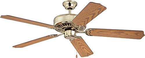 Craftmade K11137, Pro Builder Ceiling Fan, Brass, 52