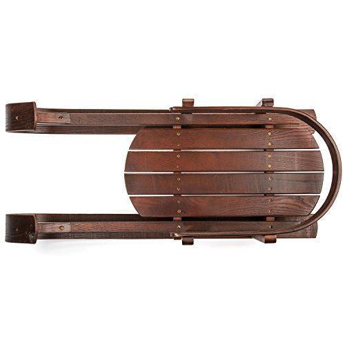 Lucky Bums Heirloom Collection Wooden Baby Boggan Sled with Pad by Lucky Bums