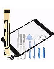 LL TRADER dla iPada mini 1 i 2 czarny ekran dotykowy digitizer przedni panel szkło wymiana naprawa obiektywu (w tym chip IC) z narzędziami i klejem