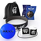 Revo Fight Boxing Reflex Ball | Premium Boxing Ball Headband with Punching Ball on String, Best Boxing Equipment for Training, Hand Eye Coordination and Fitness, Boxing Wraps Included