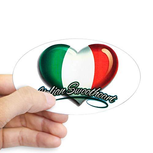 (Sticker (Oval) Large Italian Sweetheart Italy Flag)