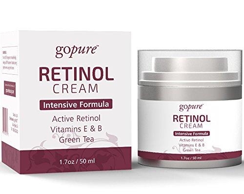 goPure Retinol Cream with Active Retinol, Vitamins E & B and Green Tea - Intensive Formula