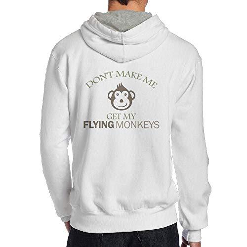 Flying Monkeys Hooded Sweatshirt - Wiongh Opp Hooded Long Sleeve Men Sweatshirt Don't Make Me Get Flying Monkeys 1