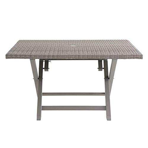 Stylish Resin Wicker Folding Gray Dining Table for 6 Person + Basic Design Concepts Expert Guide