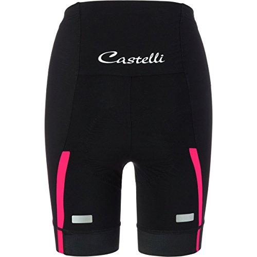 Castelli Velocissima Short - Women's Black/Raspberry, XS by Castelli (Image #1)