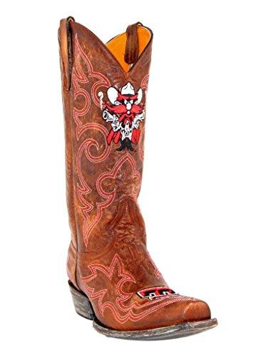 Ncaa Texas Tech Röda Anfallare Mens Gameday Stövlar Mässing