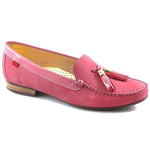 Women's Genuine Leather Made In Brazil Wall Street Tassle Loafer Marc Joseph NY Fashion Shoes Camelia Tassel 2z448Paj