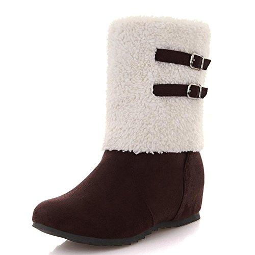 urti da slittata brown tubo neve il nuovo Negli Set da piedi neve Assorbimento Suola indossare caldo di stivali in gomma Donna Scarponi impermeabile degli Scarponi aPF5wSq