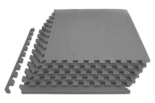 "ProSource Extra Thick Puzzle Exercise Mat 3/4"", EVA Foam Interlocking Tiles for Protective, Cushioned Workout Flooring for Home and Gym Equipment"