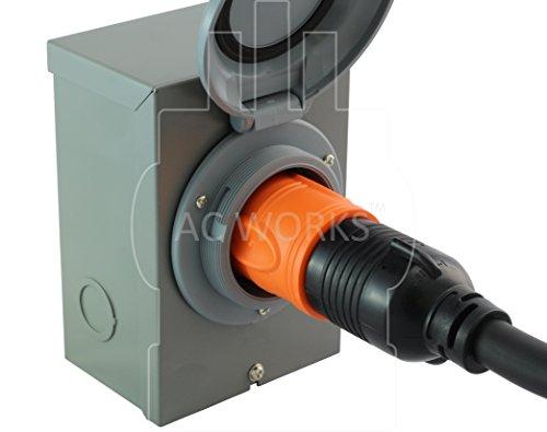 AC WORKS [ADL1430L530] Locking Adapter L14-30P 30A 125/250Volt 4-Prong Male Plug to L5-30R 3-Prong 30A 125Volt Locking Adapter by AC WORKS (Image #6)