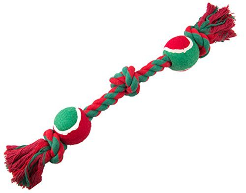 BINGPET Christmas Dog Rope Toy Teething Toys for Medium Dogs Puppy Tug of War