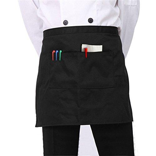 StyleZ Half Short Waist Apron with Pocket Waiter Waitress Kitchen Cafe Pub Barista