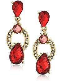 Gold-Tone Siam Post Drop Earrings