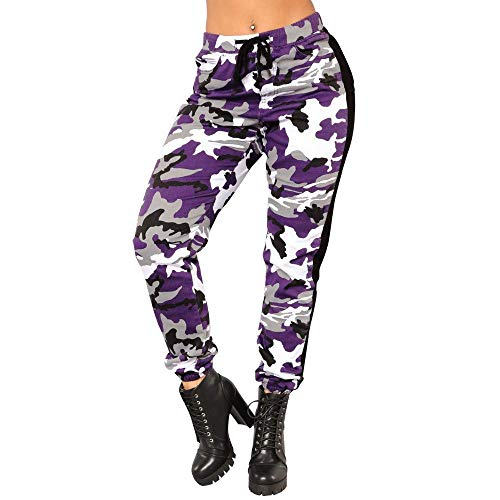 GWshop New Pants for Women, Camo Trousers Casual Pants Military Army Elastic waistt Camouflage Pants Casual Loose Fitness Pants L
