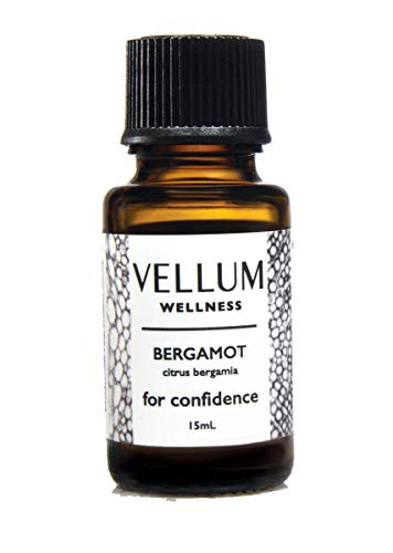 Vellum Wellness Bergamot 100% Pure Essential Oil - for Diffuser and Topical use, Helps Mental Health