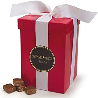 product image for AvenueSweets - Handcrafted Individually Wrapped Soft Caramels - Tall Red 2.5 lb Gift Box - Customize Your Flavors