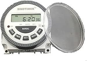 ديجيتال تايمر للتحكم بالاجهزة الكهربائيه 17 برنامج مختلف لكل يوم بالاسبوع 30 امبير