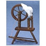 Dollhouse Miniature Walnut Spinning Wheel
