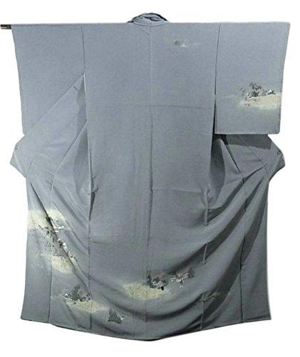 ディスコ丁寧霜リサイクル 着物 訪問着 趣のある町並み 行き交う人々 正絹 袷 裄64.5cm 身丈164cm