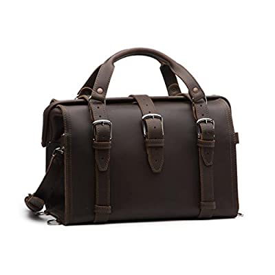 13a2742fdaef Saddleback Leather Doctor s Overnight Bag - 100% Full Grain Leather  Briefcase Duffel with 100 Year