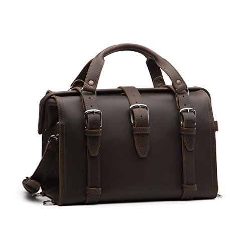 Saddleback Leather Doctor's Overnight Bag - 100% Full Grain Leather Briefcase Duffel with 100 Year Warranty