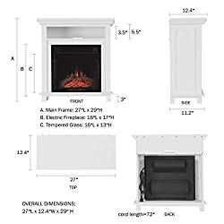 Northwest 80-FPWF Electric Fireplace TV Stand by Northwest