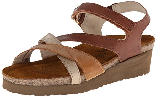 Naot Women's Sophia,Cinnamon Leather/Biscuit Leather/Champagne Leather,41 EU/9.5-10 M US by NAOT