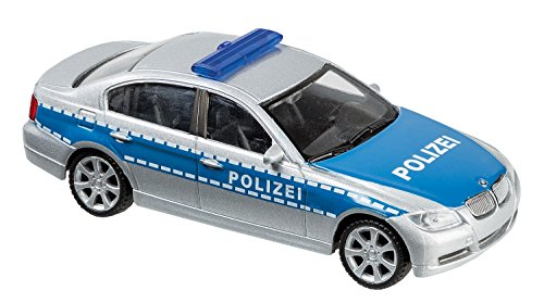 Welly 10077873Police Car, Vehicle, 1: 43Scale Blue/Silver ()