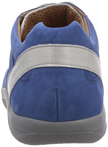 Ganter Barefoot-women Wide G Ladies Derby Stringate Multicolore (azzurro / Bianco Opaco 3304)