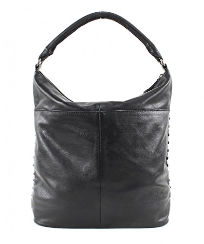 FREDsBRUDER Damen Ledertasche GRID GIRL Black s5Rivy