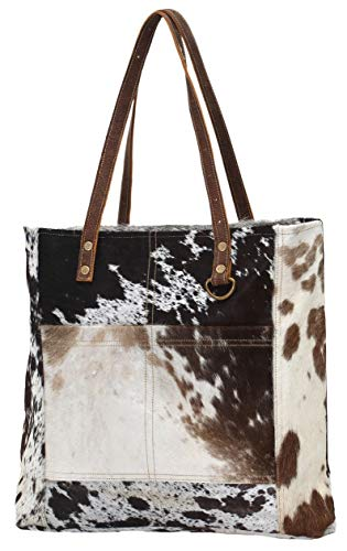 Cowhide Shoulder Bag - Myra Bags Pocket Genuine Leather with Cowhide Shoulder Bag S-0722