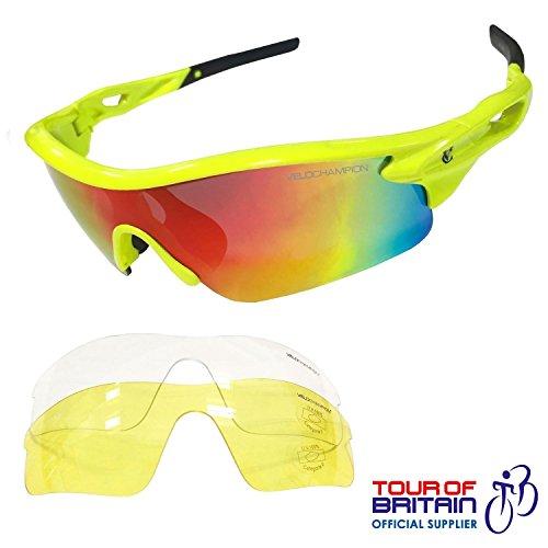 Gafas VeloChampion con 3 lentes  inc revo naranja 92e6bf4a5f88