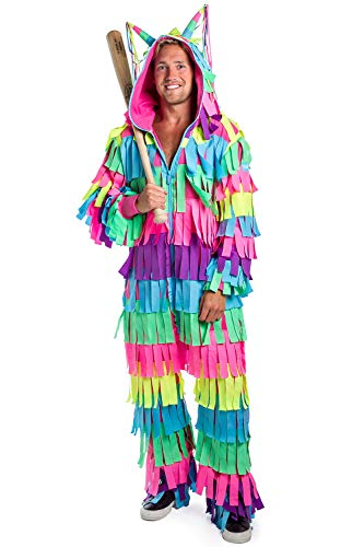 The Best Funny Halloween Costumes (Tipsy Elves Men's Pinata Costume - Funny Halloween Costume Pinata Jumpsuit:)
