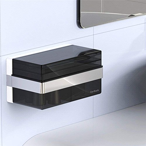 Wall Mounted Basin Stand - SED Shelf-Storage Box,Jewelry Boxes,Wall-Mounted Cosmetic Stand,Waterproof,Double Suction Cups,2010Cm