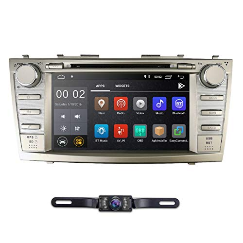 Android 8.1 Quad Core Car DVD Player Toyota Camry 2007-2011 Aurion 2006-2011 8 Inch Screen GPS Navi BT Radio RDS DTV USB Android/iPhone Mirrorlink SWC Rearview Camera USA Map