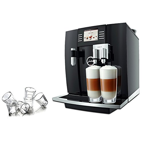 Jura Giga 5 Automatic Combination Espresso Center with 6 Piece Bodum Canteen Double Wall Espresso Glass Set
