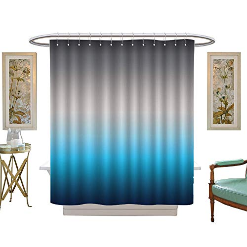 (FootMarkHome Shower Curtain Collection by Art Bathroom Decor by Waterproof, mildewproof, non-fading-W72 x L84)