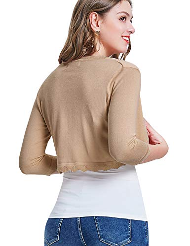 Cardigan Knit Open Front Cropped Shrug