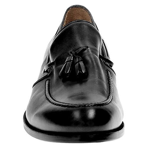 Leonardo Schoenen Mannen 07013forma40nairobinero Zwart Lederen Mocassins
