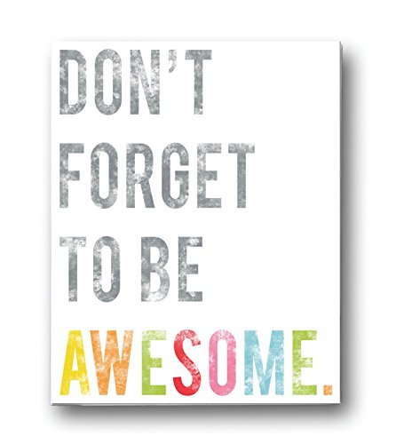 Art Awesome (Don't Forget to Be Awesome Wall Art Print 24x36, Typography, Nursery Decor, Kid's Wall Art Print, Kid's Room Decor, Gender Neutral, Motivational Word Art, Inspirational Artwork for Kids)