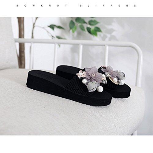 Verano Usa Zapatillas De La Femenina Un Playa A Par Zapatos Flores Y Sandalias Impermeables Moda Dyfymx wX8Rnx8