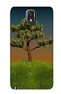Galaxy Note 3 Tree On A Green Hill Print High Quality Tpu Gel Frame Case Cover For New Year's Day