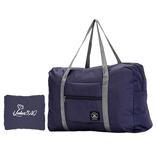 - iLotusBAG Travel Foldable Duffel Bag for Women & Men,Lightweight Waterproof Carry-on Bag,Travel Luggage for Sports Gym,Travel Tote Luggage Bag(Navy Blue)