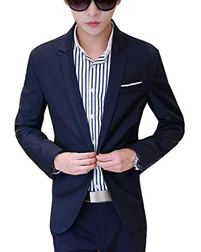 Bouton Fit Blazer Navy Veste Slim Un Homme Costume y4SWq6FF