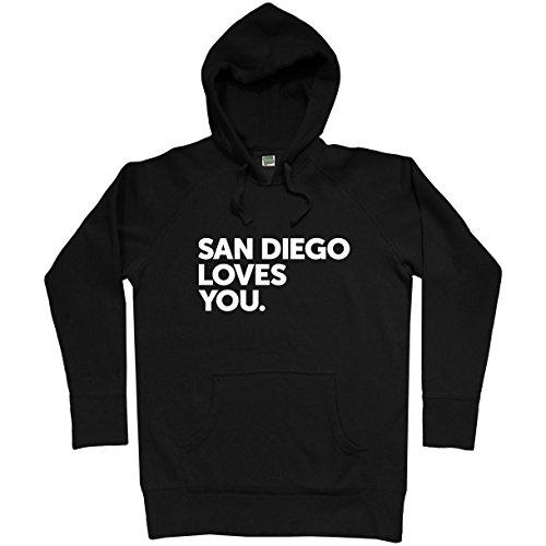Smash Transit Men's San Diego Loves You Hoodie - Black, XXX-Large (Fleece Padres Pullover Diego San)