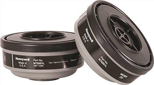 - North by Honeywell N75001L Gas and Vapor Cartridges, Cartridge/Filter, Organic Vapor, 1
